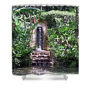 Coyaba Garden Ornamental Fountain Shower Curtain