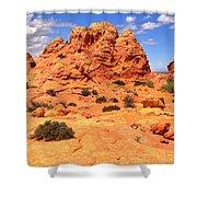 Coyote Buttes Pastel Landscape Shower Curtain