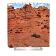 Coyote Buttes Pink Landscape Shower Curtain