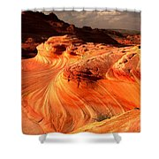 Coyote Buttes Rainbow Dragon Shower Curtain