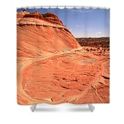Coyote Buttes Swirling Sandstone Shower Curtain