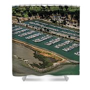 Coyote Point Yacht Club In San Mateo, California Shower Curtain