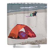 Cozy Hide-a-way For Two On A Florida Beach Shower Curtain