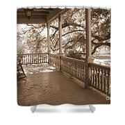 Cozy Southern Porch Shower Curtain by Carol Groenen