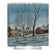 Cozy Winter Night Shower Curtain