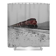 Cp Rail 2 Shower Curtain by Stuart Turnbull