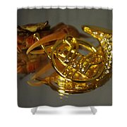 Crab Play Horn Shower Curtain
