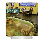 Crab Shack Japanese Style Shower Curtain