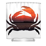 Crab Sunset Shower Curtain