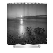 Crab Trap Sunset Le Bw Shower Curtain