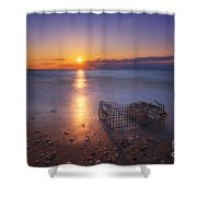 Crab Trap Sunset Le Shower Curtain