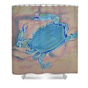 Crab Works Shower Curtain
