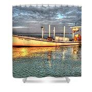 Crabbing Boat Beth Amy - Smith Island, Maryland Shower Curtain