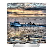 Crabbing Boat Miss Maxine - Smith Island Maryland Shower Curtain