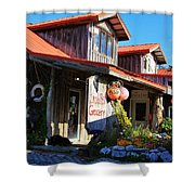 Crabpot Grocery Shower Curtain