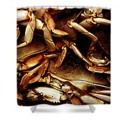 Crabs Awaiting Their Fate Shower Curtain