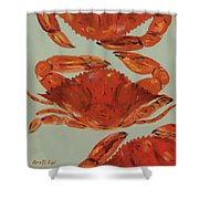 Crabs Tonight Shower Curtain