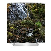 Crabtree Falls In Autumn Shower Curtain