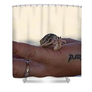 Craby On Hand Shower Curtain