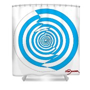 Cracked Circles 1 Shower Curtain