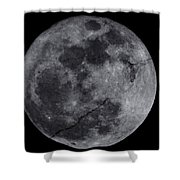 Cracked Moon Shower Curtain