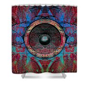 Cracked Music Speaker 3 Shower Curtain