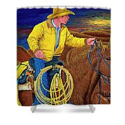 Cracker Cowboy Sunrise Shower Curtain