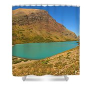 Cracker Lake Many Glacier Panorama Shower Curtain