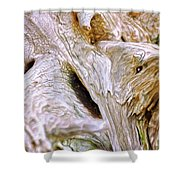 Cracking Wood Shower Curtain