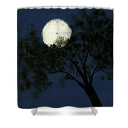 Cradling The Moon Shower Curtain