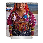 Craft Vendor In Panama City, Panama Shower Curtain