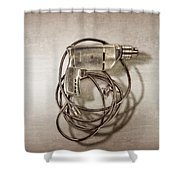 Craftsman Drill Motor Back Side Shower Curtain