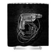 Craftsman Drill Motor Bs Bw Shower Curtain