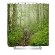 Craggy Gardens Trail Shower Curtain