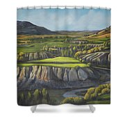 Craig's Course Shower Curtain
