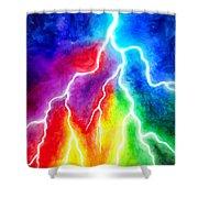 Rainbow Color Lightning Shower Curtain