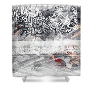 Cranberries In Winter Shower Curtain