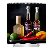 Cranberry And Fruit Shower Curtain