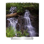 Cranberry Falls. Shower Curtain by Itai Minovitz