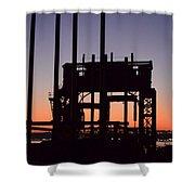 Crane At Sunset Shower Curtain
