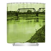 Crane At The River Shower Curtain