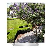 Crane Cottage Garden In Spring Shower Curtain