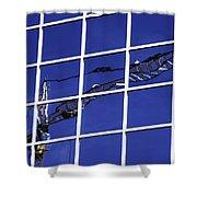 Crane Reflection Shower Curtain
