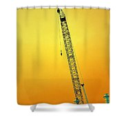 Crane With Towers Shower Curtain