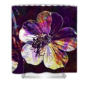 Cranesbill Flower Close Bee Insect  Shower Curtain