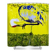 Craning Shower Curtain