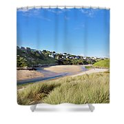 Crantock And The Gannel Shower Curtain