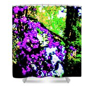 Crape Myrtles Abstract Shower Curtain