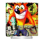 Crash Bandicoot Shower Curtain