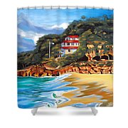 Crash Boat Beach Shower Curtain